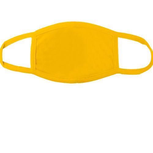 Желтая многоразовая маска для лица