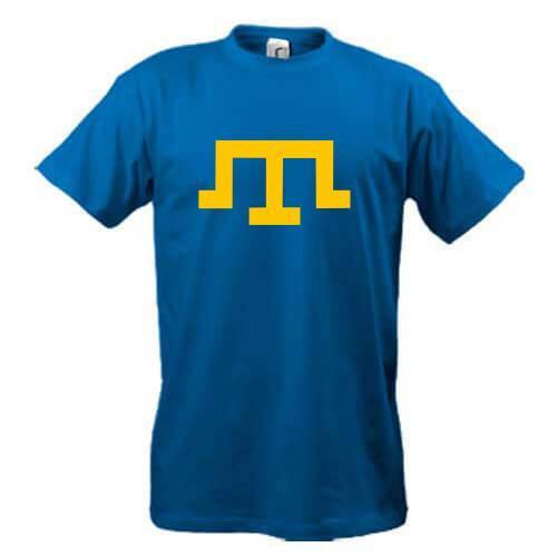 Футболка з тамгою (символом кримських татар)