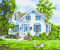 """Картина по номерам """"Загородний домик"""" 40*50см,крас.-акрил,кисть-3шт."""