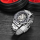 Водонепроницаемые мужские классические часы Winner TM340 с автоподзаводом (тех пакет), фото 5