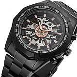 Водонепроницаемые мужские классические часы Winner TM340 с автоподзаводом (тех пакет), фото 9