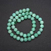 Намистини з натурального каменю Бирмский Жадеїт гладкий кулька d-6(+-)мм L-38см