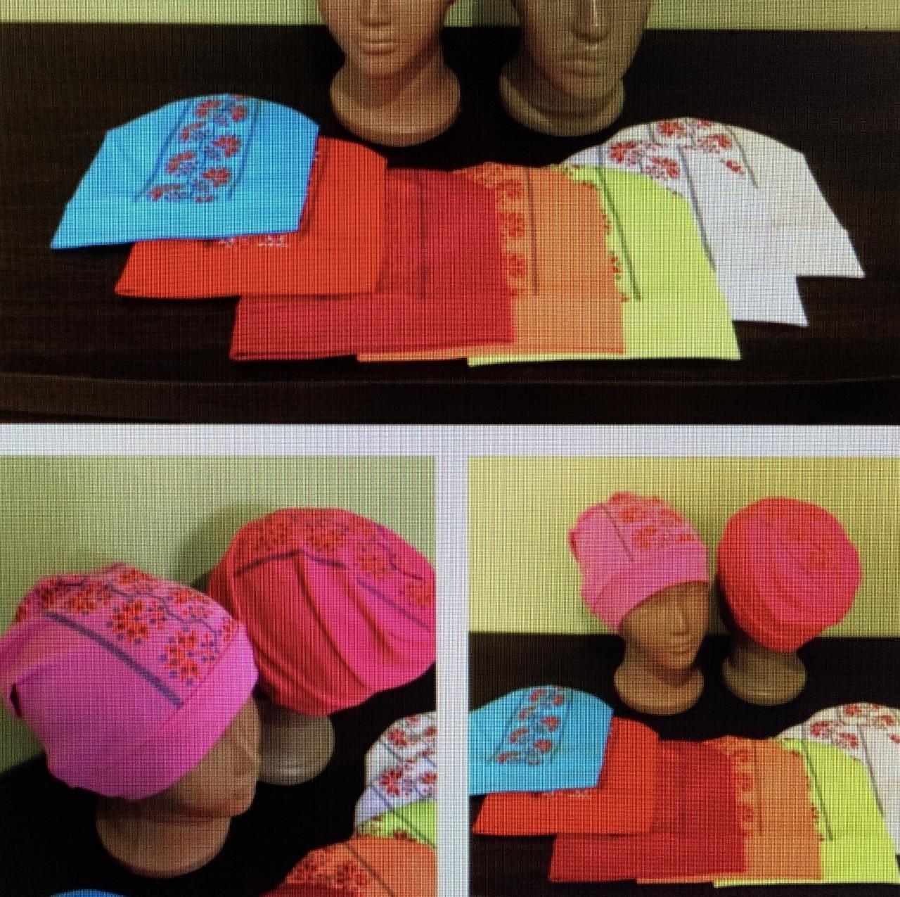 Трикотажные детские шапки 2-6 лет Вышиванка