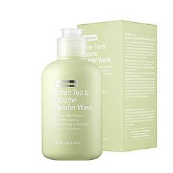 Ензимна пудра з зеленим чаєм By Wishtrend Green Tea & Enzyme Powder Wash 70g