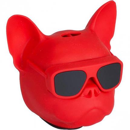 Портативна Колонка Голова собаки 597-5 (Червоний), фото 2