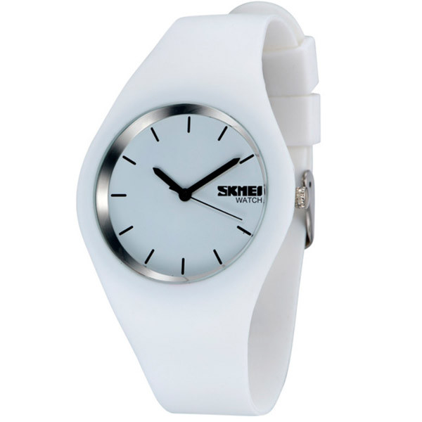 Дитячі годинники Skmei Rubber White 9068C