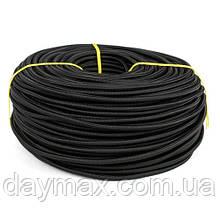 Провод в тканевой оплётке 2 х 0.5мм² черный