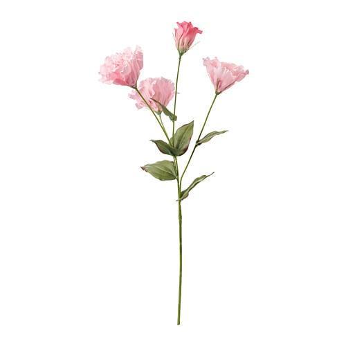 ИКЕА (IKEA) СМИККА, 704.097.74, Искусственный листок, Lizantus, розовый, 60 см - ТОП ПРОДАЖ