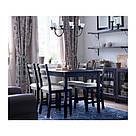 ИКЕА (IKEA) ЛЕРХАМН, 702.642.81, Кресло, черно-коричневый, Виттарид бежевый - ТОП ПРОДАЖ, фото 2