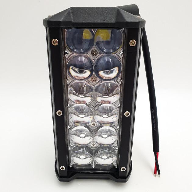 Автофара 12 LED балка люстра дополнительная фара на крышу или бампер машины 12В 36Вт влагозащищенный