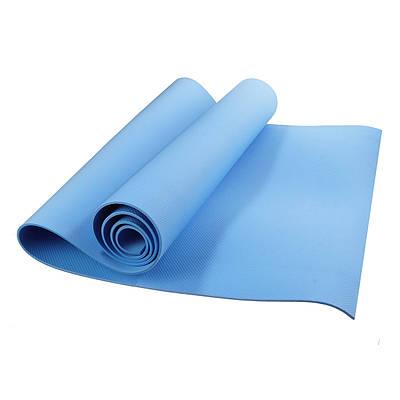 Коврик каремат для йоги в чехле (голубой)