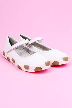 Туфли детские белые ACG 124351T