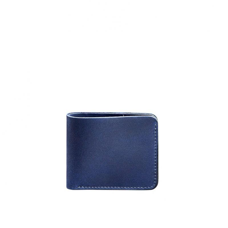 Чоловіче шкіряне портмоне 4.1 (4 кишені) синє