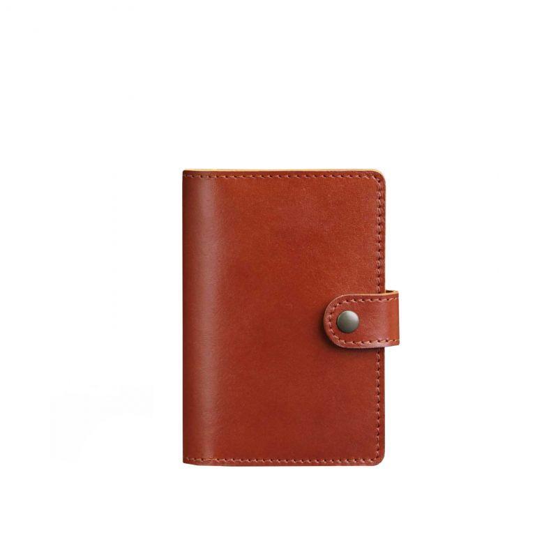 Кожаная обложка для паспорта 3.0 светло-коричневая
