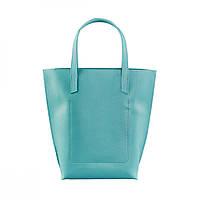 Кожаная женская сумка шоппер D.D. Бирюзовая