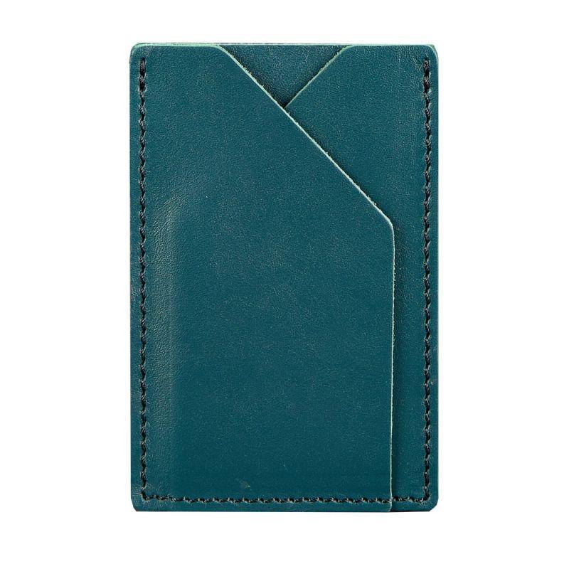 Женский кожаный кард-кейс 8.0 зеленый