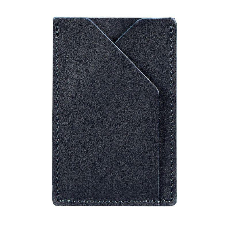 Кожаный кард-кейс 8.0 темно-синий