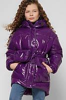 Яркая зимняя лаковая Куртка для девочки X-Woyz DT-8300-19
