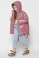 Лаковая зимняя  Куртка для девочки X-Woyz DT-8300-21