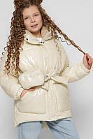 Лаковая зимняя куртка для девочки X-Woyz DT-8300-3