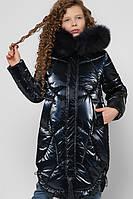 Зимний миди пуховик для девочек X-Woyz DT-8302-2