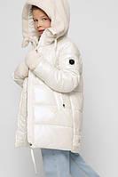 Яркая лаковая куртка для девочек белая X-Woyz DT-8303-3