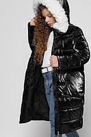 Длинная зимняя куртка для девочек лаковая X-Woyz DT-8305-8