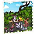 Детский развивающий коврик-пазл мозаика Сказочный лес, с массажным эффектом EVA С 36565 4 шт в упаковке, фото 2