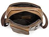 Сумка мужская гладкая Vintage 14707 Cветло-коричневая, фото 5