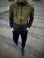"""Чоловіча спортивна куртка """"Anti-wind"""" камуфляж - чорна"""