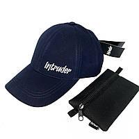 Кепка Intruder мужская   женская синяя брендовая + Фирменный подарок