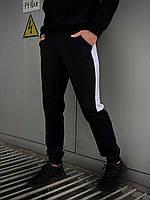 """Мужские спортивные штаны черный-белый Intruder """"Spirited""""+ Подарок"""