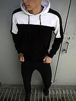 Мужской спортивный костюм Spirited черный-белый Intruder + Подарок S, черный-белый