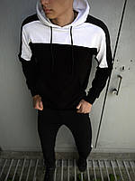 Чоловічий спортивний костюм Spirited чорний-білий Intruder + Подарунок XXL, чорний-білий