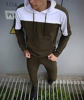 Мужской спортивный костюм Spirited черный-белый Intruder + Подарок S M L XL XXL, хаки-белый