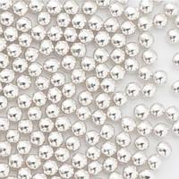 Кулькі цукрові d=3мм 50 г, срібні