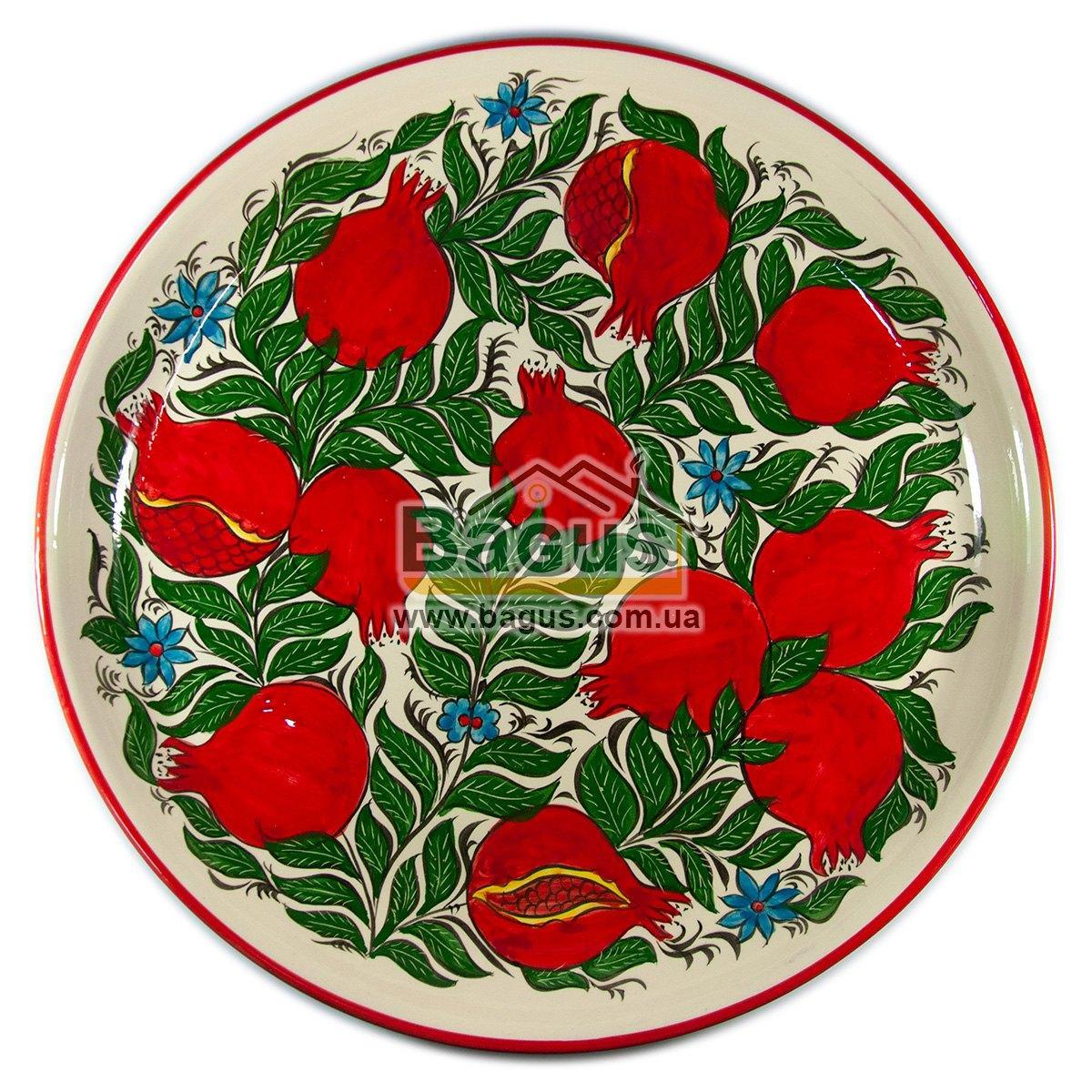 Ляган узбекский (тарелка узбекская) диаметр 45см ручная работа 4505-09