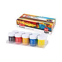 """Краски """"Гуашь"""", 10 цветов, Red Apple, краски и кисти для рисования,детские краски и кисти для"""