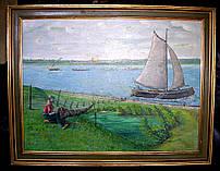 """Картина """"Рибалка на березі"""""""