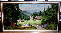 """Вишита картина """"Село в лісі"""""""