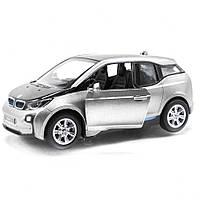 Модель электромобиль BMW i3 KT5380W (Серебристый), металлические модели,машинка,игрушки для мальчиков,машина