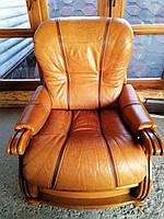 Кресло кожа, на дубовом каркасе., фото 1