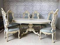 Итальянскии обеденный стол (нераздвижной). После реставрации.