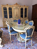 Столовая. Итальянская столовая. Cтоловый гарнитур барокко.