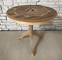Итальянский кофейный столик. Круглый, кофейный, подставка. Цена указана за сам каркас.
