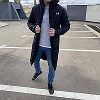 Парка мужская зимняя длинная до -30°С Under Armour X black | куртка мужская зимняя ЛЮКС качества