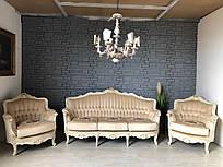 Мягкая часть в стиле барокко диван на три места и два кресла