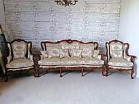 Диван на 3 места и два кресла в стиле барокко. Комплект мягкой мебели