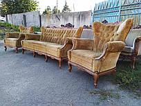 Мягкая мебель в стиле барокко диван на три места и два кресла, б/у