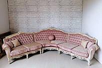 Мягкая мебель в стиле барокко угловой диван